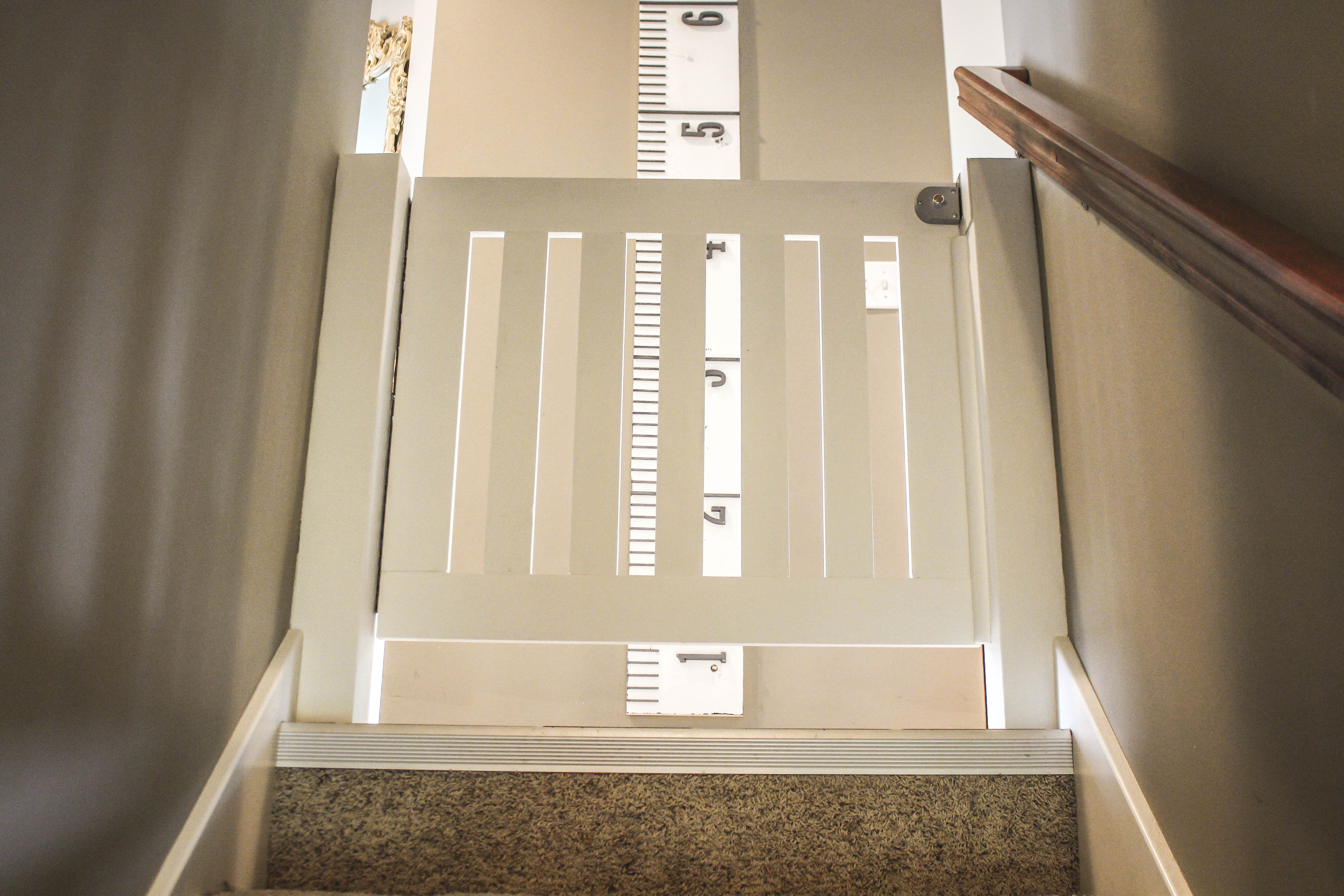 When We Are Carrying Things Up And Down The Stairs It Is Easy To Prop It  Open. IMG_8784. Strike Plate For Custom Baby Gate