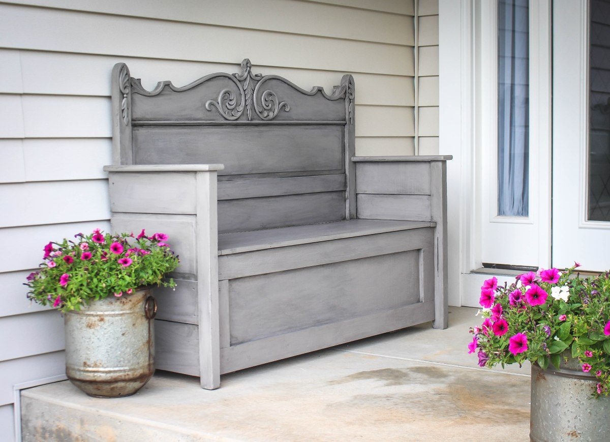 Repurposed Headboard Bench